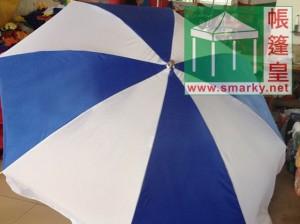 太陽傘-藍白
