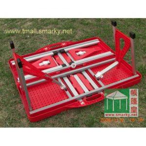 鋁合金摺枱椅-紅2