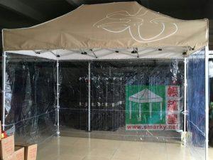 廣告帳篷配透明膠