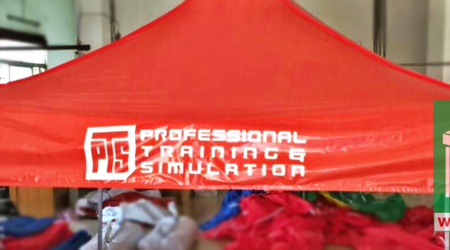3Mx3M 電腦噴畫廣告展銷帳篷 – Professional Training Simulation (PTS)