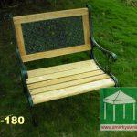 鑄鐵花園單人椅