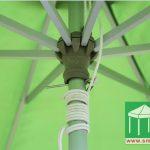 直徑2.7米中柱鋁合金手拉繩式花園傘