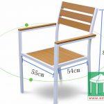 環保木餐椅-SM004