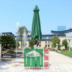 直徑2.7米中柱鋁合金手攪式花園傘