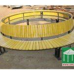 環保木環型公園椅
