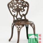 鑄鋁蘭花桌椅