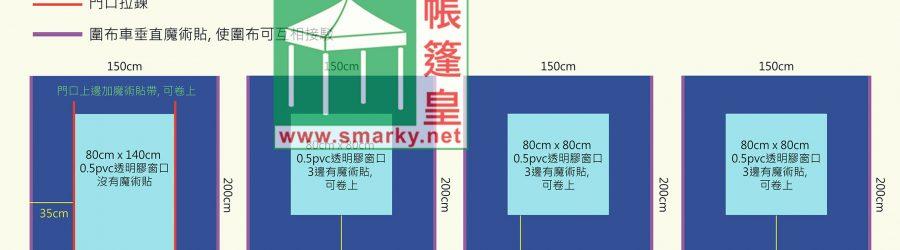 1.5米X1.5米平頂帳篷