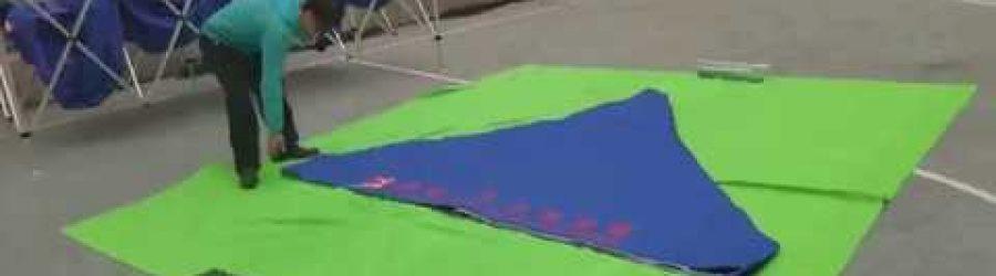 3米X3米帳篷頂布摺合示範