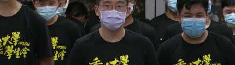 20210709 香港大學學生會郭永皓見記者撤回悼念刺警案施襲者議案及總辭道歉