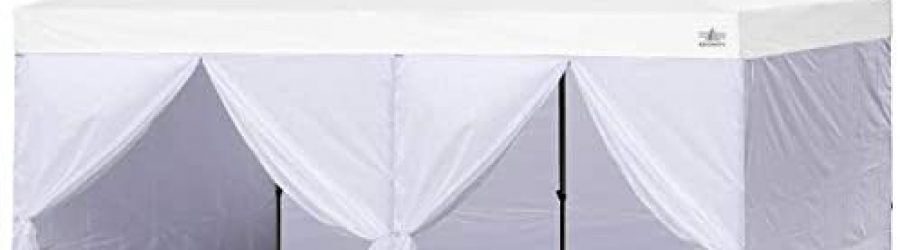 ABCCANOPY Sidewall Kit,Canopy Tent Side Walls 10×20,4 Walls ONLY (White)
